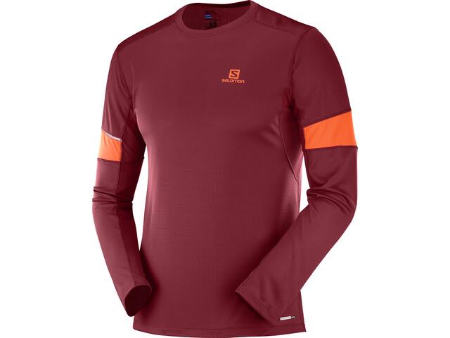 Salomon Agile Running Shirt longsleeve Men red